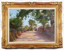 TABLEAU, huile sur toile ancienne, paysage de Provence