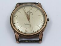 Vintage MuDu 30 Jewels Doublematic Gentleman's Wrist Watch for Repair