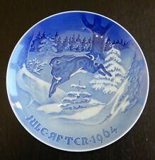 "1964 Bing + Grondahl B+G Denmark Annual Christmas Plate 7"" Wide Show Rabbit"