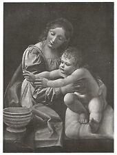 D0400 Giovanni Boltraffio - Madonna - Stampa antica del 1931 - Old Print
