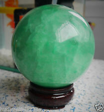 90mm +Stand Glow In The Dark Stone crystal Fluorite sphere ball Iceland SPAR