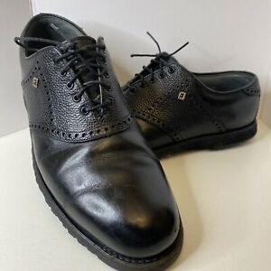 Footjoy Classics Dry Premiere Men's Black Golf Shoes Handcrafted in USA 10.5 C