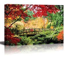 """Canvas Prints - A Bridge in an Asian Garden During Fall Season - 24"""" x 36"""""""