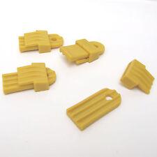 4 PLASTIC GROUNDSHEET MAT CLAMPS YELLOW. CAMPING TENT AWNING CARAVAN MOTORHOME