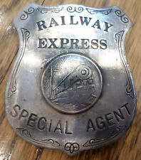Railway Express Special Agent Badge Of The Old West Western Pin Back Bw-50