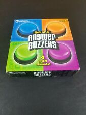 Learning Resources - Set of 4 Answer Buzzers - Ages 3+ - 4 Different Fun Sounds