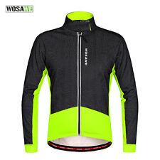 Men's Cycling Jacket Winter Fleece Thermal Windproof Long Sleeve S to XXL