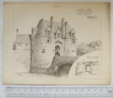 1903 photo-litho Nottingham Castle, Proposed adaptation of Gateway for Museum
