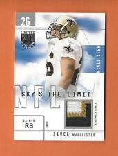 2003 SKYBOX LE SKY'S THE LIMIT SILVER DEUCE McALLISTER GAME-USED PATCH #d 31/50
