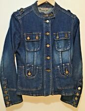 Women's Size AU 10 / EUR 38 Original Military Styled Denim Jeans Jacket