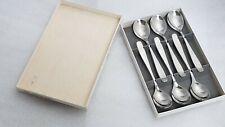 WMF Cromargan Germany Line 6 egg bowl demitasse spoons - (4 3/4 in) look unused