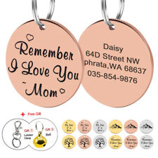 Custom Personalized Pet ID Tags Engraved Stainless Steel Gold Round ID Tag Disc