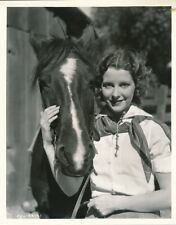 JULIE BISHOP & Horse Original Vintage 1933 Studio Western Portrait Photo