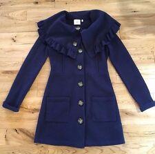 Anthropologie by HWR Hervlev Sweater Coat Navy 100% Wool Sweater, Size XS