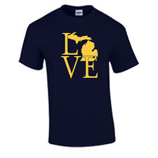 I Love Michigan T Shirt