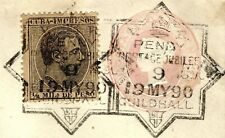 More details for gb spain mixed franking 1890 penny post jubilee exhibition postmark 1d e152a