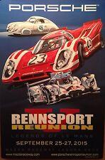 Porsche 2015 Rennsport Reunion V  Official Event Orig.1st on eBay! Car Poster