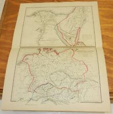 1861 Antique COLOR Map/ EGYPT, GERMANIA MAGNA /Classical