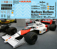 1//43 MCLAREN SENNA PROST FITS YEARS FROM 80 TO 90 DECALS TB DECAL TBD57