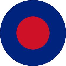 Piano Britannico RAF COCCARDA bassa visibilità Esercito extrior VINILE aeromodellismo Decalcomania