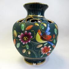 Vintage Quaregnon HB Decorative Vase - Hand Painted & Made in Belgium - 27cm