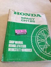 Honda CH125 Spacy Ch 125 D Revision Technik Motorrad Workshop Service Manuell