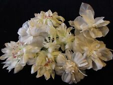 "Vintage Millinery Flower Collection White Bridal 2-3"" Japan H3091"