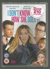 I DON'T KNOW HOW SHE DOES IT - sealed/new UK REGION 2 DVD - Sarah Jessica Parker