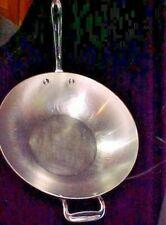 "All Clad Stainless Steel 12"" Wok Open Skillet Stir Fry Pan w/handles"