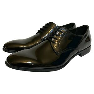 Express for Mens Black Patent Tuxedo Oxford Dress Shoes Size 8 Brand New $108
