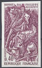 PHILIPPE AUGUSTE N°1538 ESSAI COULEUR NN DENTELÉ BORDEAUX PROOF 1967 NEUF ** MNH