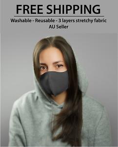 Washable Reusable Unisex Adult & kids Face Mask Mouth Masks Protective AU Seller