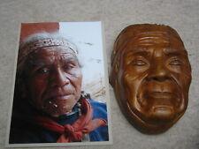 hochwertige alte Maske / Faschingsmaske Holz mask nach Photo geschnitzt Indianer