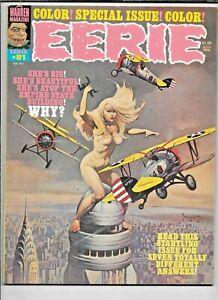 Eerie #81 February 1977 Warren Frazetta Corben FN/VF Creepy Heavy Metal Artists