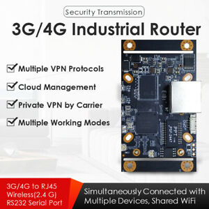 4G LTE Industrial Wireless Router W/SIM Card Slot Compatible W/Module of Quectel