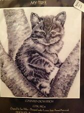 counted cross stitch kit by Needlepoise the mono collection, my tree cats