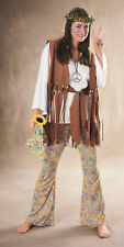 Adult Hippie Love Child Costume 60's 70's Outfit Women's Size Standard