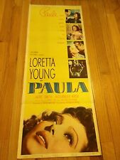 PAULA~ORIGINAL 1952 MOVIE POSTER~LORETTA YOUNG~KENT SMITH~ALEXANDER KNOX~~~NICE