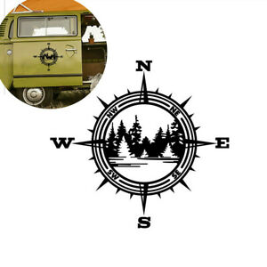 Compass Trees Lake Vinyl Decal Fit For SUV Offroad Car Truck Bumper Wall Window