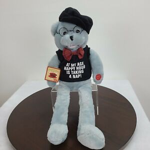 PBC Chantilly Lane Bear Gray Singing When Im 64 Musical Animated Plush At My Age