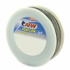 American Fishing Wire Surflon Nyon Coat 1x7 Steel Leader Wire 30LB 300ft Bright