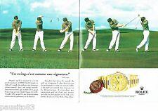 PUBLICITE ADVERTISING 116  1996  la montre Rolex  Day-Date chrono (2p)  Fred Cou