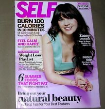Zooey Deschanel Magazine Fitness Front Cover Self July 2011 FANTASTIC CONDITION