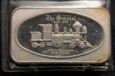 1972 Madison Mint The General Train Error 1oz Silver Art Bar MAD-9E (2140)