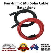6M Pair 4mm2 Mc4 Extension Cable Red/Black PV Solar Panel Extensions