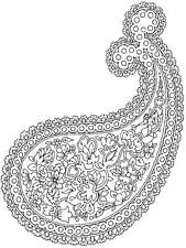 Unmounted rubber stamp Paisley Design