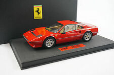 1/18 BBR FERRARI 208 GTB TURBO ROSSO CORSA BLACK DELUXE LEATHER BASE LE 10 PC MR