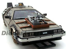 1:18 Back To The Future Delorean Parte 3 vía Férrea Metálico Car por SUNSTAR