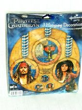 PIRATES OF THE CARIBBEAN ~~1- HANGING DECORATIONS  - PARTY  SUPPLIES
