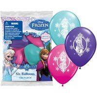 "(6ct) Disney Frozen Ela Anna Birthday Latex Balloons Party Supplies 12"""